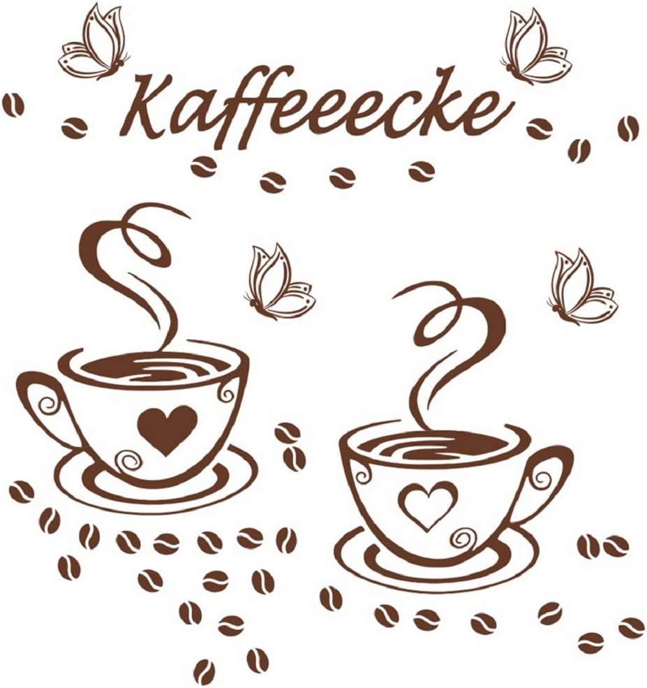 Wandtattoo Kaffee Tasse Coffee Küche Kitchen Herz Wandaufkleber Wandsticker .