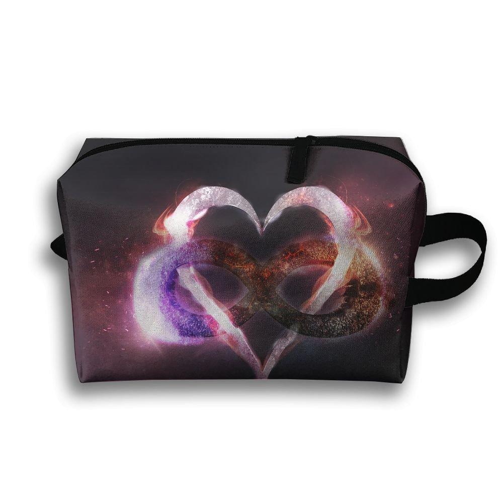 Love Heart Figure Cosmetic Bags Makeup Organizer Bag Pouch Zipper Purse Handbag Clutch Bag