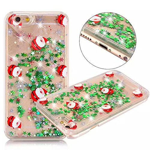 ikasus® Cover ibrida per iPhone 6 Plus/6S Plus (5.5 pollici), trasparente con liquido con glitter, iPhone 6 plus case