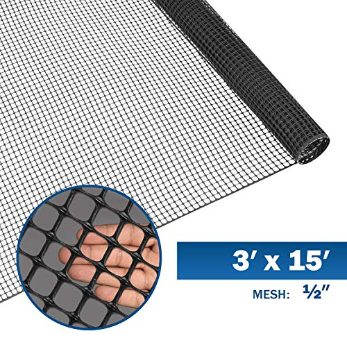 Fencer Wire Black Plastic Poultry Netting Animal & Garden Fence Recyclable Plastic Barrier Environmental Protection Mesh 0.5