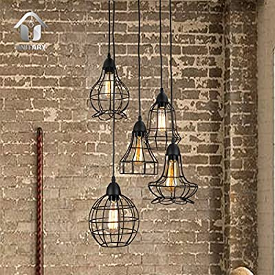 Unitary Brand Rustic Barn Metal Chandelier Max 200w with 5 Lights Black Finish - High quality,2 years guarantee.Installation type:Hardwired. Style:Country,Antique,Cottage,Vintage,Traditional. Product Dimensions:39.4x15.75x15.75inch,height adjustable.Suggested Space Size:20-30Sq.m.It's the perfect light fixture to install in bedroom,living room,foyers,dining room. - kitchen-dining-room-decor, kitchen-dining-room, chandeliers-lighting - 61JLguAa6%2BL. SS400  -