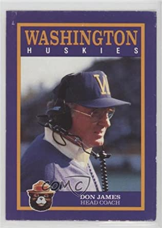 FREE SHIP 1992 DON JAMES Washington Huskies /'LEGEND/' /& Coach Pacific-card #1