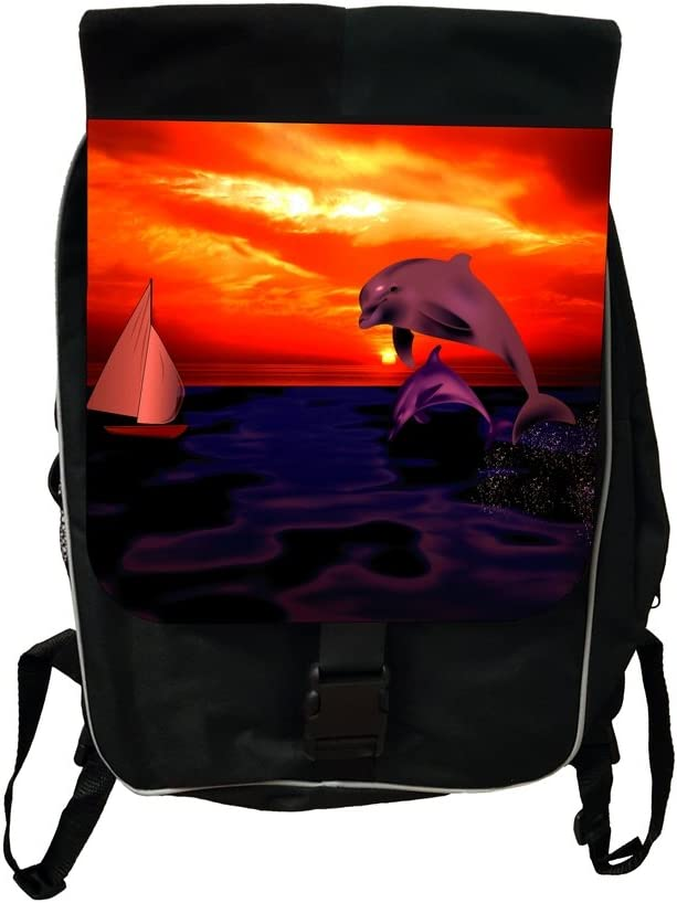 Dolphins Lea Elliot TM School Backpack and Pencil Case SET