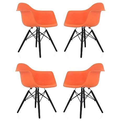 Amazon.com: CozyBlock - Juego de 4 sillones de comedor con ...