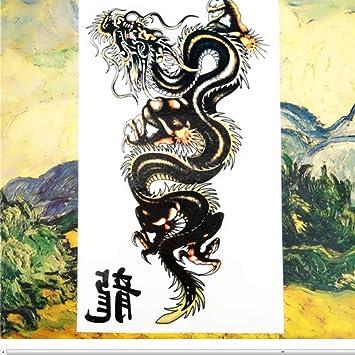 Nu-TATY Colorido Serpiente Dragón Tatuaje temporal Body Art Flash ...