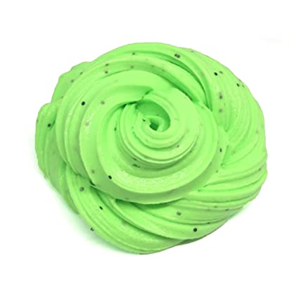 JAGENIE New Scented Glitter Fluffy Floam Slime Stress Relief Toy Kids Gift Modeling Clay D