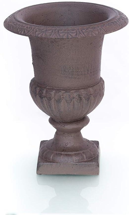 Antikas - macetero ánfora para el jardín de hierro fundido - macetero francés pequeño