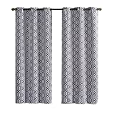 2 Charcoal Alexander Thermal Insulated Woven Blackout Window Curtain Grommet Panels – Pair -76″W x 96″L inch Long Review