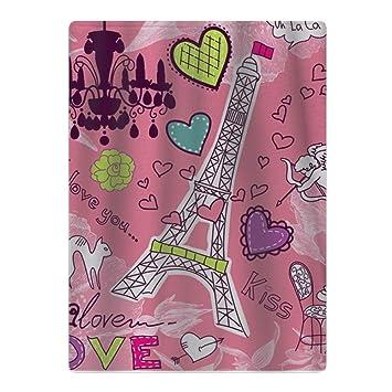 """Toalla de baño para bebé, diseño con texto en inglés """"Love In Paris"""""""