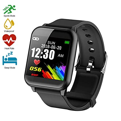 Fitness Tracker, Waterproof Big Color Screen Activity Tracker with Heart Rate Monitor Watch, Fitness Watch with 8 Sports Modes Calorie Counter Pedometer Sleep Blood Pressure Monitor for Kids Women Men