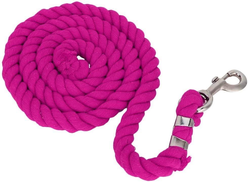 HEEPDD Cuerdas de Plomo, 2m 20mm Perno Tejido Engrosado Cabezal de Entrenamiento de Cuerda de Caballo para Aparejo de árboles Escalada Senderismo Elaboración(Rosa roja)