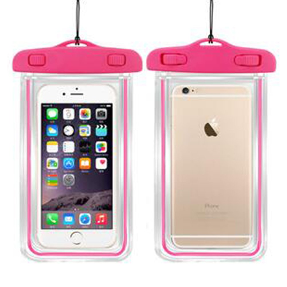Lisli Universal Waterproof Case,Dry Pouch Bag for iPhone 6S,6,6S Plus,Samsung Galaxy S7,S6 Edge, S6, S5, S4,Note 5, 4, HTC, LG,Nokia up to 6.0'' (Pink)