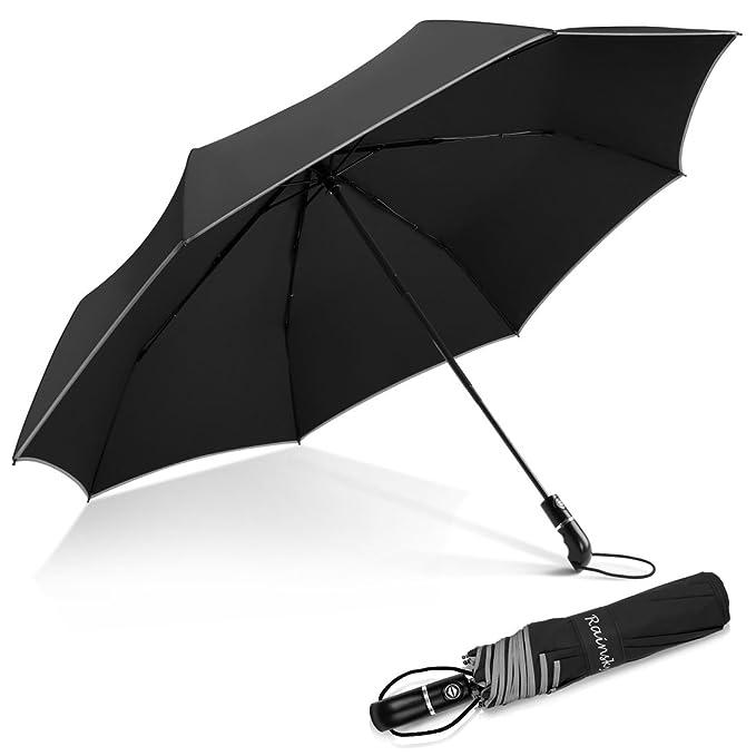 Amazon.com: Paraguas de Viaje, 8 varillas grande Auto Abrir ...