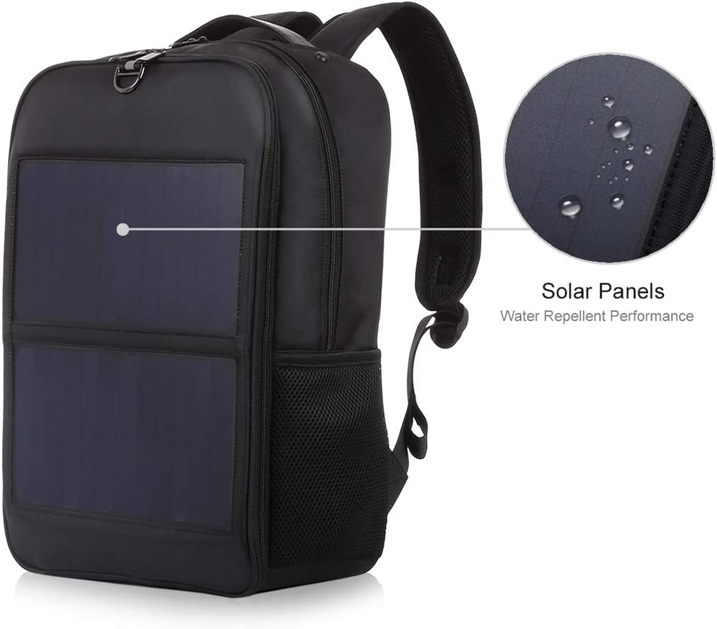 Solar Power Backpack with USB Charging Port Anti-Theft Camping/&Hiking Daypack US