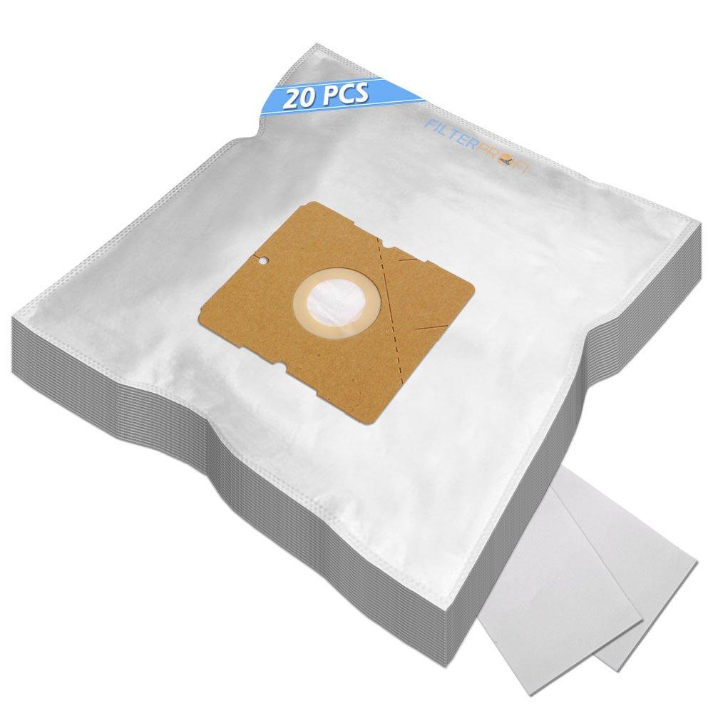 TOP - Pack of 20 + 2 Filters / Vacuum Cleaner Dust Bags For Nilfisk Bravo Filterprofi