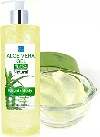 Body 2 PCS Moisturizing Aloe Vera Gel Facial Moisturizer for Face After Sun Body Moisturisers Bug Bites and Minor Burns Hair Rich in Vitamins Soothing /& Hydrating Treats inflammations
