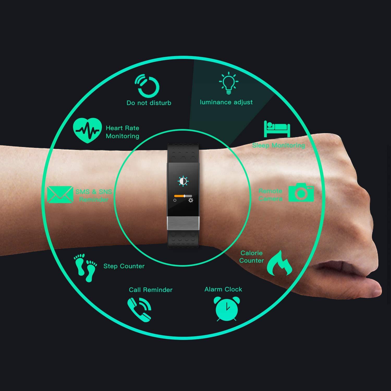YoYoFit Rock Pulsómetros Pulsera de Actividad Inteligente, Reloj Podometro: Amazon.es: Deportes y aire libre