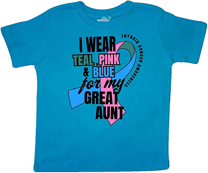 inktastic I Wear Teal Pink and Blue for My Aunty Baby T-Shirt