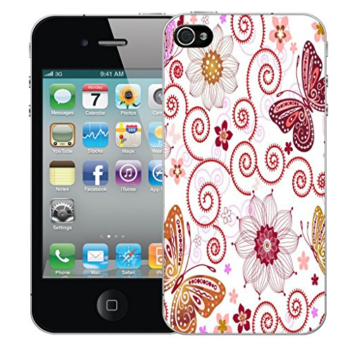 Mobile Case Mate iPhone 5s Silicone Coque couverture case cover Pare-chocs + STYLET - Dahlia pattern (SILICON)