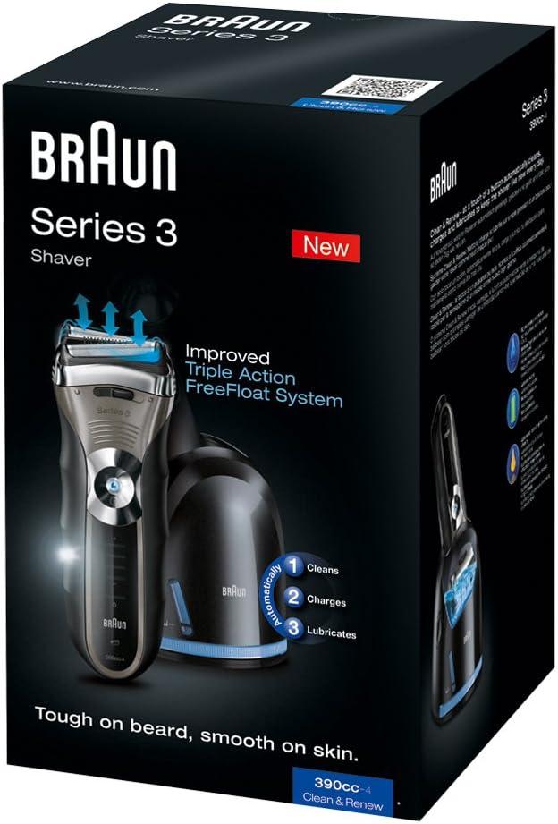 Braun - Afeitadora Series 3-390-4 cc con sistema de carga y ...