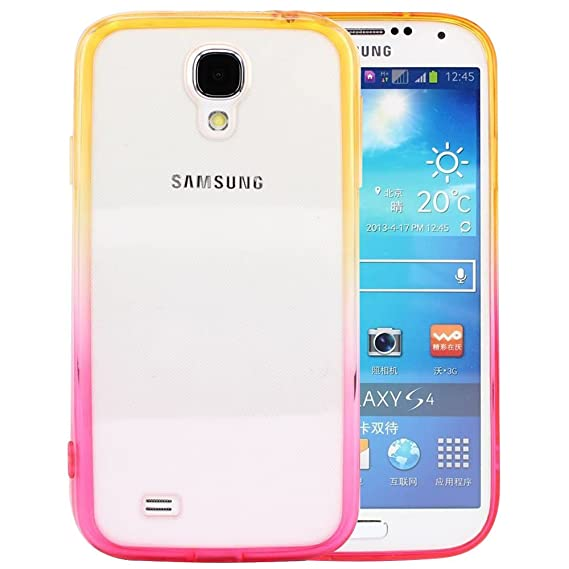 pretty nice 6023e 02d12 S4 Case, Samsung S4 Case,Galaxy S4 Case ,BAISRKE Yellow and Hotpink  Gradient TPU Soft Edge Bumper Case Rubber Silicone Skin Cover for Samsung  Galaxy ...