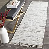 Cotton Rag Rugs Safavieh Rag Rug Collection RAR121G Hand Woven Ivory and Multi Cotton Runner (2'3