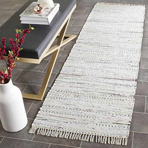 Safavieh Rag Rug Collection RAR121G Hand Woven Ivory and Multi Cotton Runner (2'3