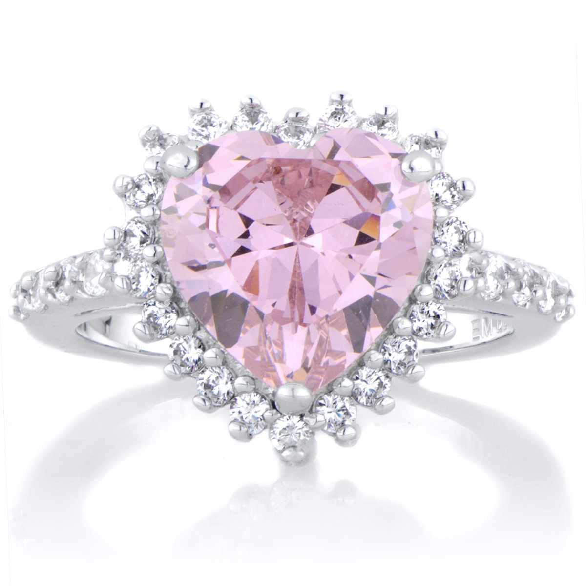Darling\'s Heart Shaped Engagement Ring - Pink: Emitations: Amazon.co ...
