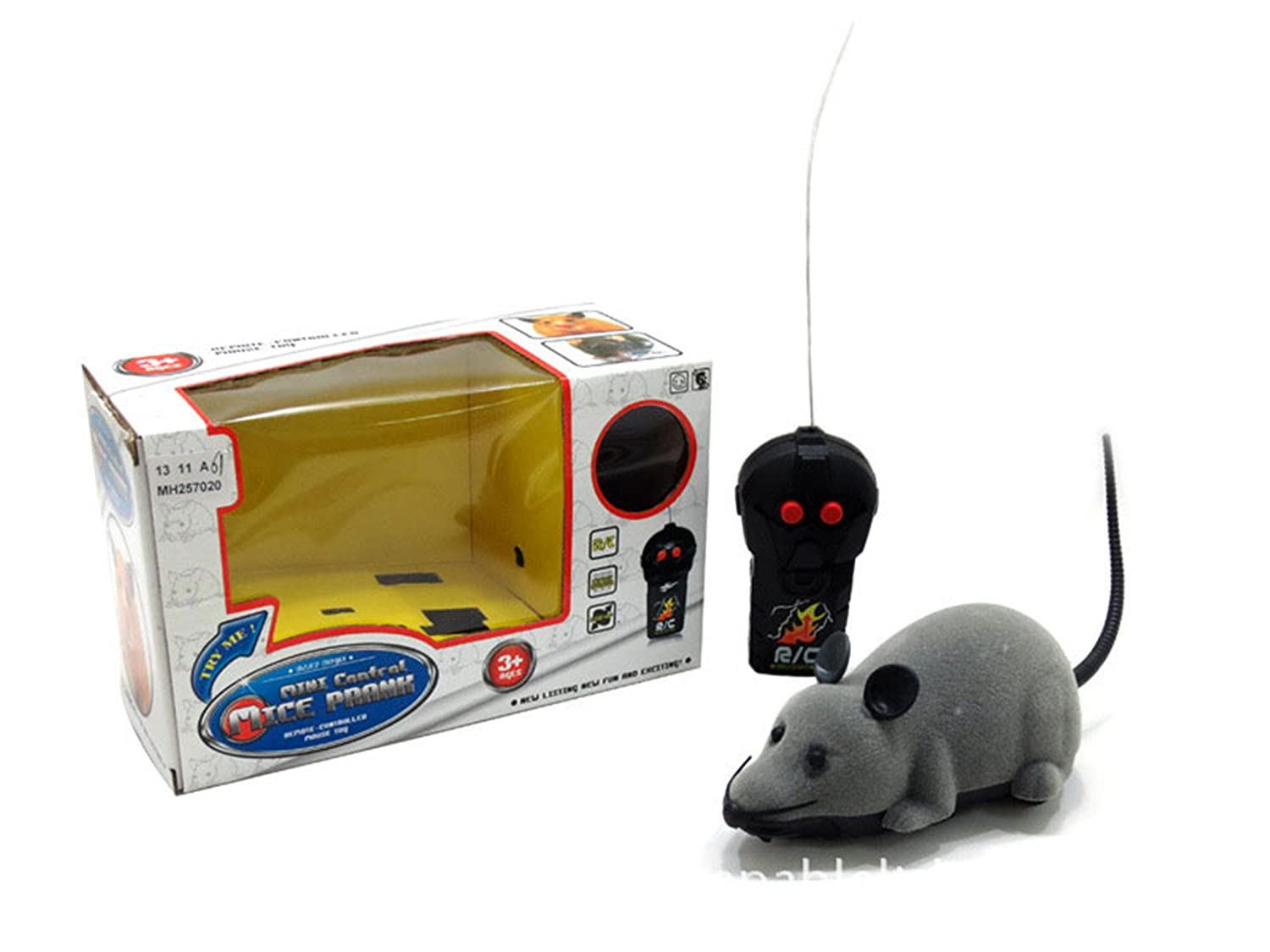 Allytech(TM) RC Mouse Funny Wireless Remote Control Rat Toy For Cats Dogs Pets Kids Novelty Gift Funny (Grey)