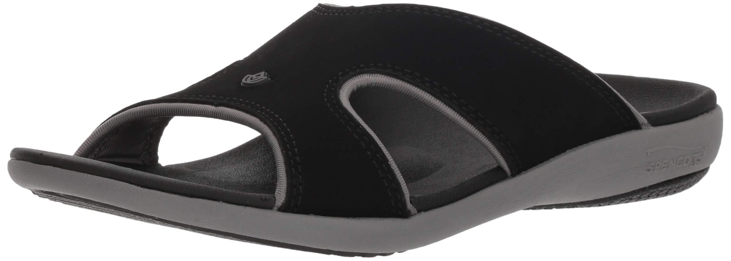 Spenco Women Kholo Plus Slide Sandal, Onyx, 9 Medium US