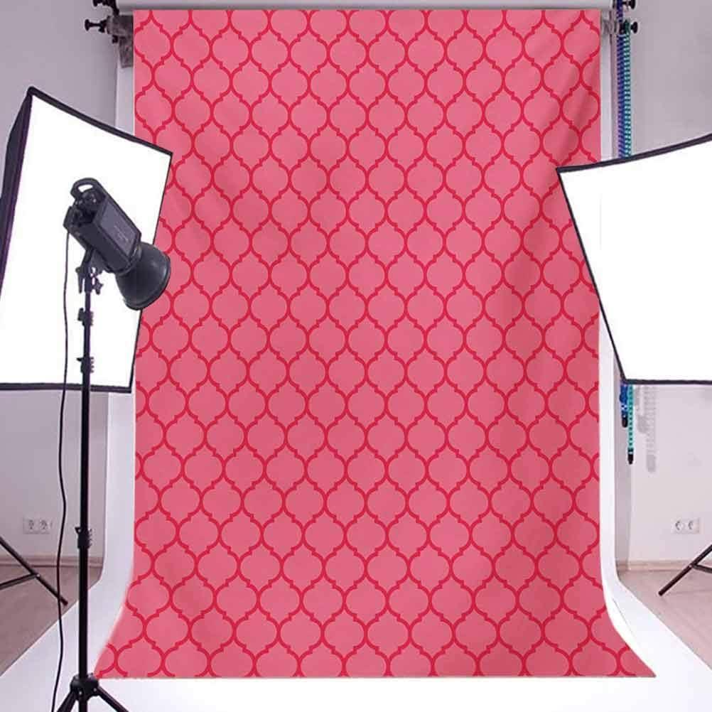 6.5x10 FT Backdrop Photographers,Quatrefoil Pattern Gothic Renaissance Era Ancient Antique Design Traditional Motif Background for Photography Kids Adult Photo Booth Video Shoot Vinyl Studio Props