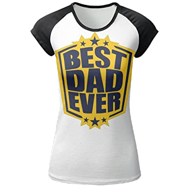 d26272cb1 Image Unavailable. Image not available for. Color: Gugize Gold Medal Best  Dad Ever Jersey Baseball Tee T Shirts For Women Tshirt