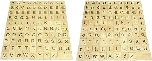 Compra Ogquaton Juego de crucigramas de Scrabble de Madera Letras de Aprendizaje de Madera Palabras Regalo Educativo Niño Azulejos de Scrabble DIY 200 Piezas Durables y útiles en Amazon.es