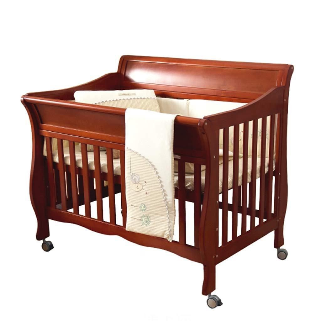 Babybett Babybett Spleißbett massivem Holz europäischen Stil Multifunktions Kinderbett Bett (Farbe   braun)