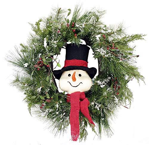 Mr. Snowman's Wonderful Wreath Front Door Christmas Holiday Indoor Home Decor