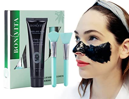 Black Máscara, anti mitesser Peel Off Máscara, Bon Vita bambú carbón Blackhead Máscara con