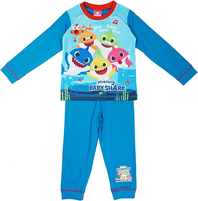 5 Years Boys Official Pinkfong Baby Shark Sing Along Doo Doo Pyjamas 18 Months