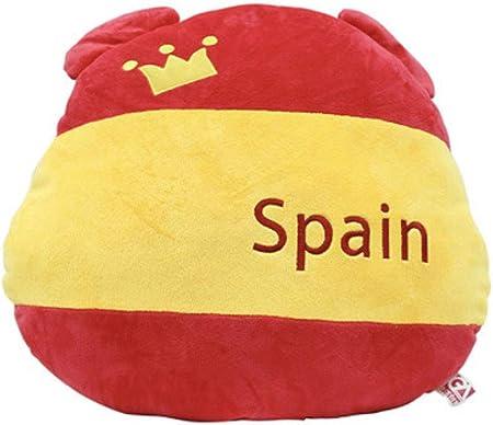 EASTVAPS Bandera de España Oso Bandera Abanico Felpa Almohada ...