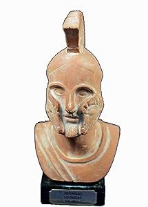 Estia Creations Leonidas Sculpture Bust King Spartan Ancient Greek Hero Artifact