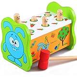 [ドリーマー] モグラ叩きゲーム 土竜たたき 木のおもちゃ 槌で打つ 知育玩具 ネズミ ノックアウト 赤ちゃん ベビー 子供用 幼児