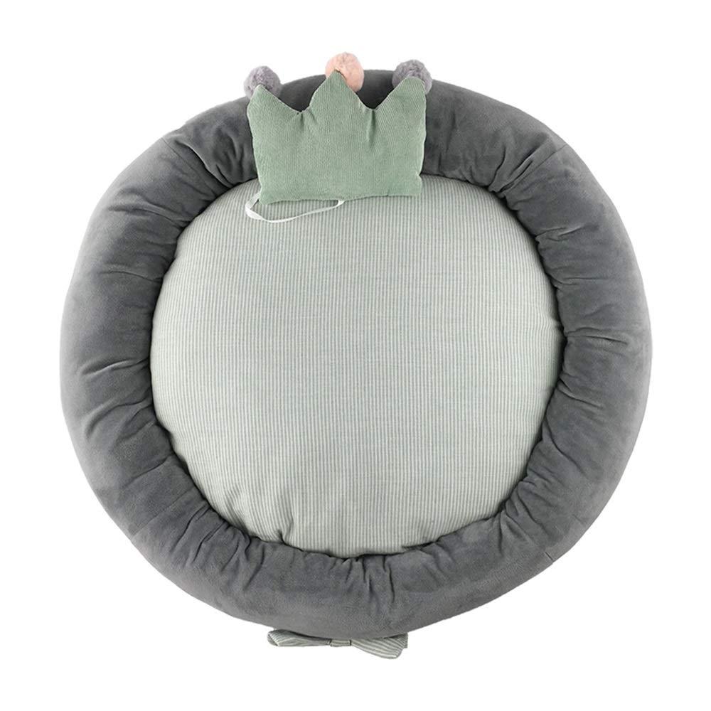Green 7575cm Green 7575cm Pet nest mattress corduroy PP cotton for kittens, etc. pets nest (color   GREEN, Size   75  75cm)