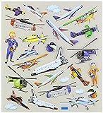 Multi-Colored Stickers-Aviation