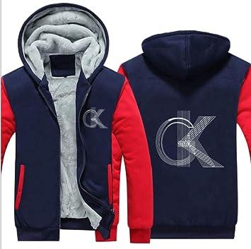 冬に適しメンズパーカーフルジップベルベットOKを印刷太いフード付きセーターコートフリースパーカー、