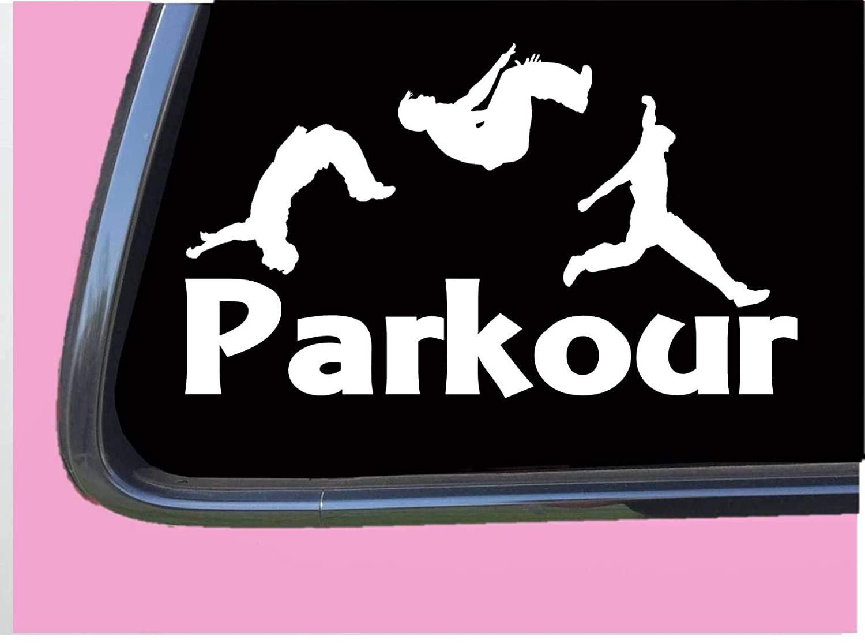 Parkour TP 672 8 Inch decal sticker shoes gloves gear tshirt equipment