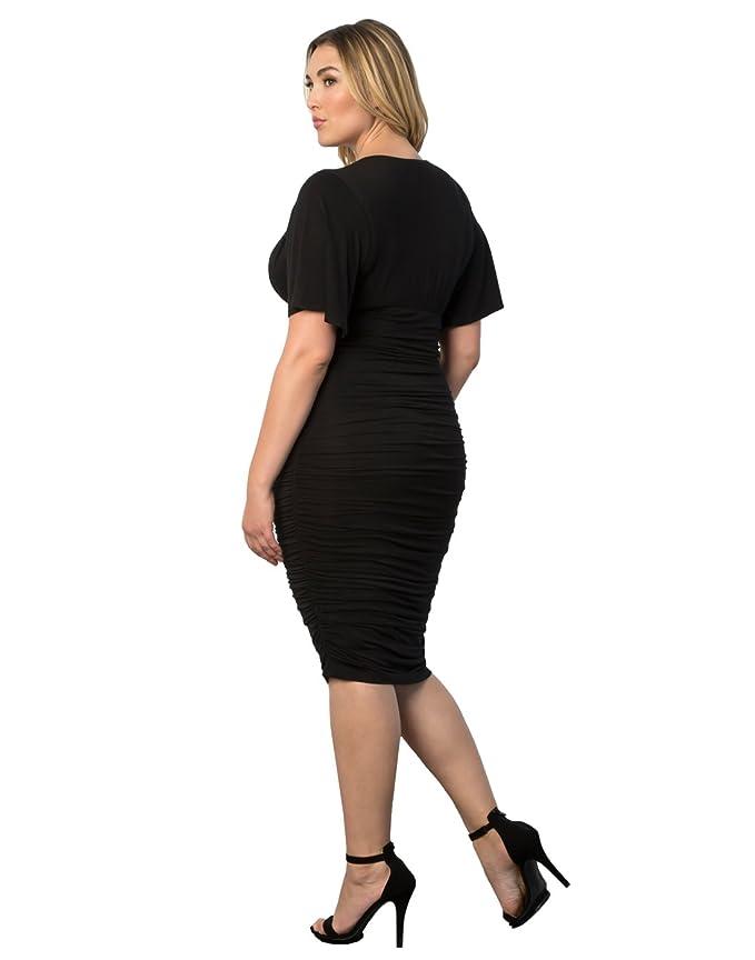 Kiyonna Womens Plus Size Rumor Ruched Dress At Amazon Womens