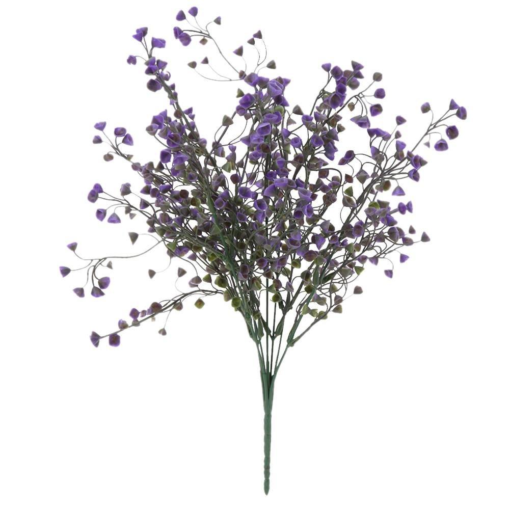 Demiawaking Plastique de simulation de fleurs de lavande artificielle plantes romantique Mariage Cadeaux, violet