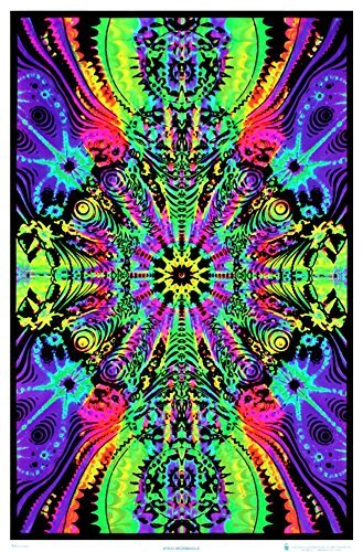 Wormhole Blacklight Poster Print 24 x 36in