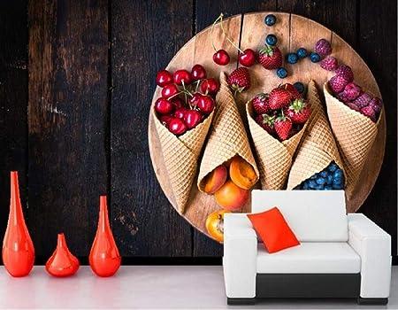 Sktyee Grandes Peintures Murales Fruits Framboises