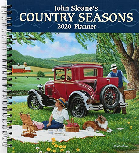 John Sloane's Country Seasons 2020 Monthly/Weekly Planner - Monthly Desk Scenic