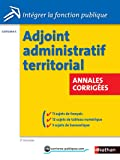 Adjoint administratif territorial - Annales corrigées